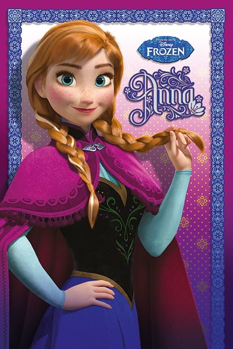 Póster  Frozen, el reino del hielo - Anna