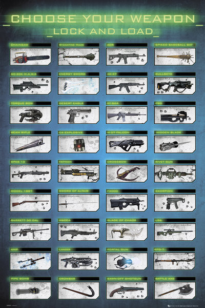 Poster Gaming - choose your weapon