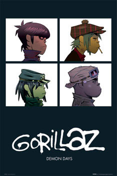 Póster  Gorillaz - demon days