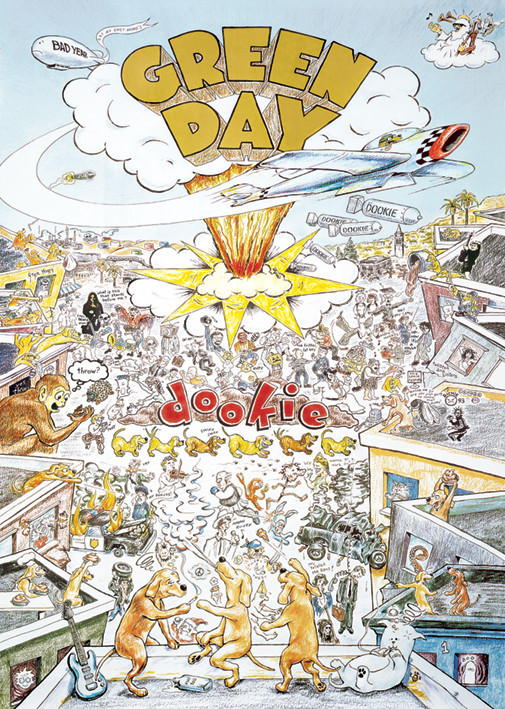 Green Day - dookie Poster / Kunst Poster