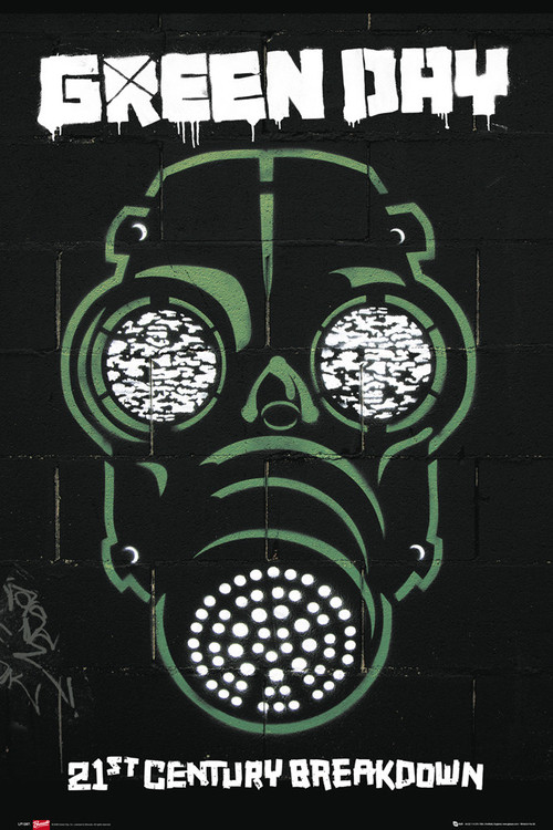 Poster Green Day - gas mask