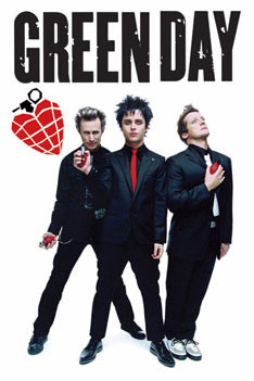 Poster Green Day - grenades