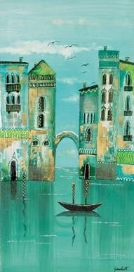 Green Venice Kunstdruk