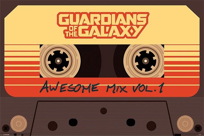 Póster  Guardianes de la galaxia - Awesome Mix Vol 1