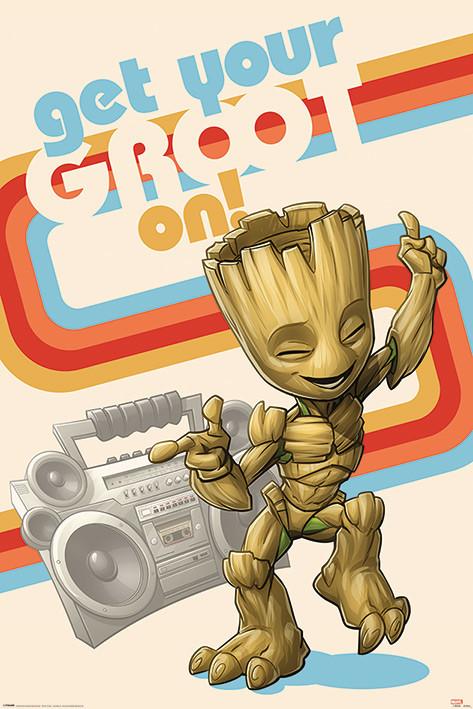 Póster  Guardianes de la Galaxia - Get Your Groot On