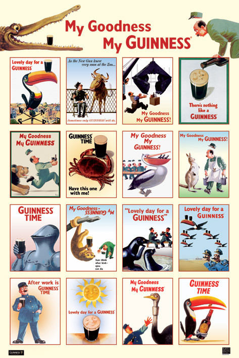 Poster Guinness - collage