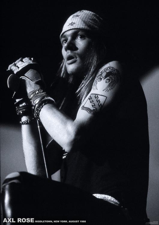 Póster  Guns N Roses (Axl Rose) - Middletown, New York, August 1988