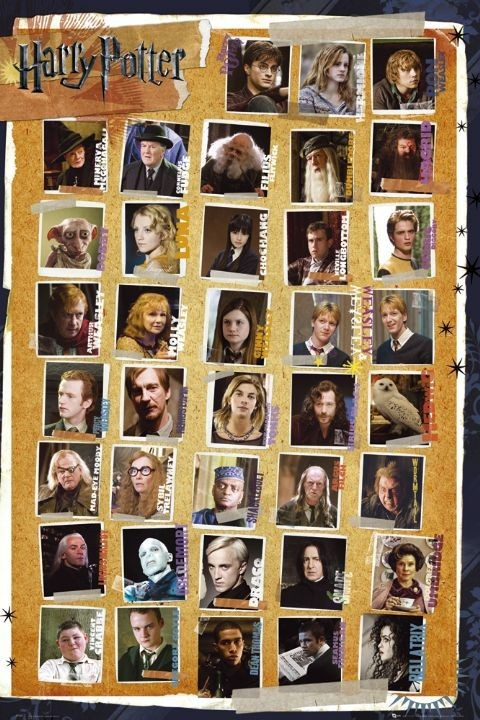 Póster HARRY POTTER 7 - characters