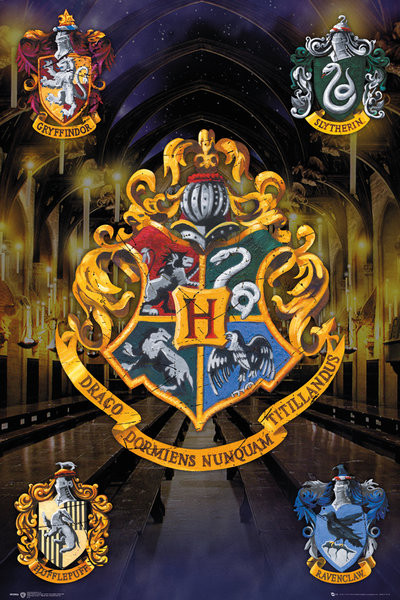 Póster  Harry Potter - Crests