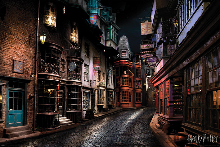 Póster  Harry Potter - Diagon Alley