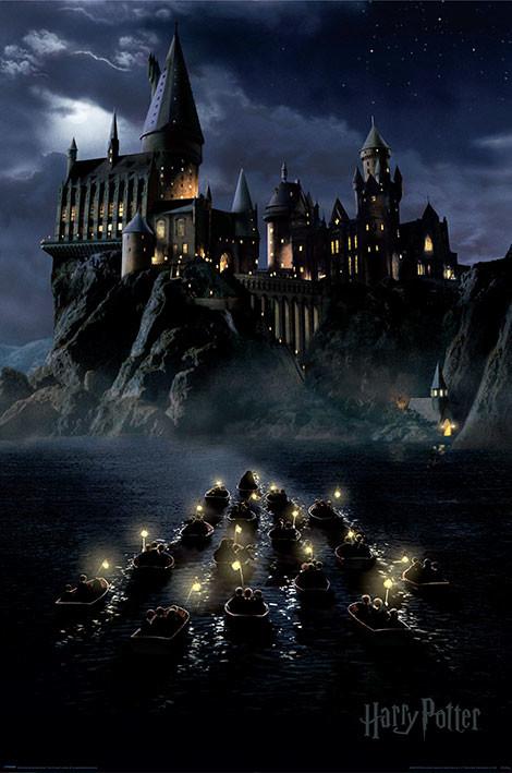 Póster Harry Potter - Hogwarts Boats