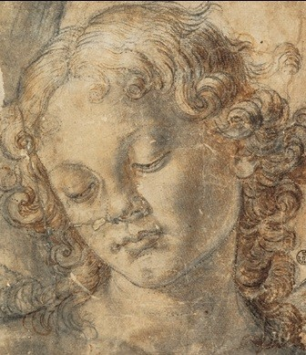 Head of an Angel Kunstdruk