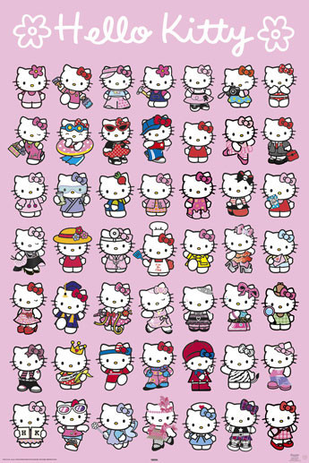 Set Bagno Hello Kitty.Poster Quadro Hello Kitty Characters Su Europosters It