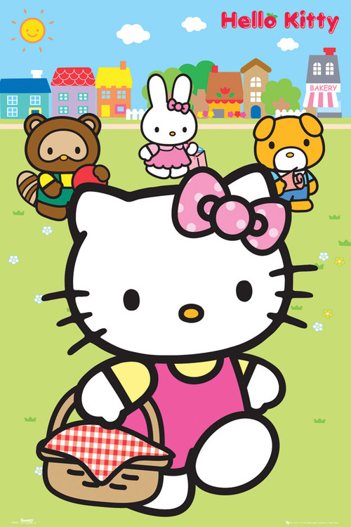 Set Bagno Hello Kitty.Poster Quadro Hello Kitty Picnic Su Europosters It