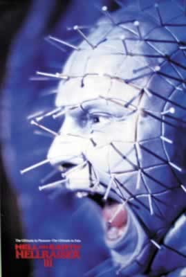 Poster HELLRAISER III - pinhead screaming