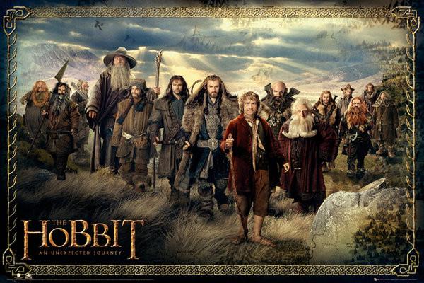 Póster  HOBBIT - cast