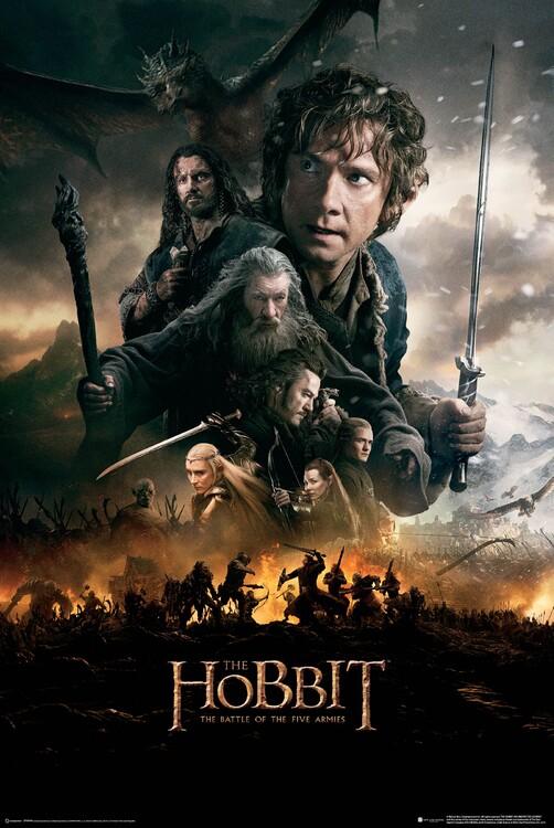 Poster Hobbit: Femhäraslaget