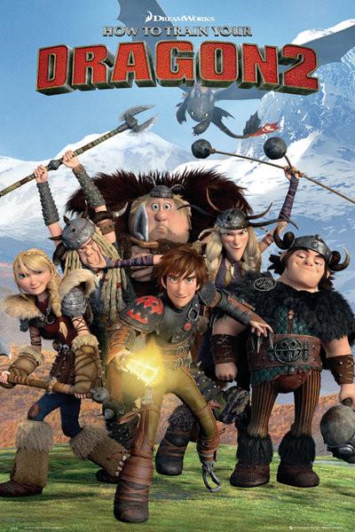 Hoe Tem Je Een Draak 2 - Cast Poster