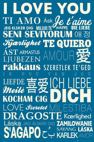 Bestel De I Love You Poster Op Europostersnl