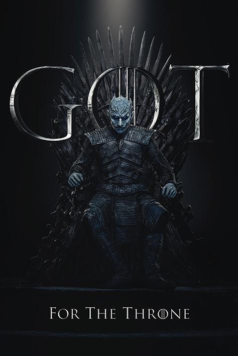 Poster  Il Trono di Spade - Night King For The Throne
