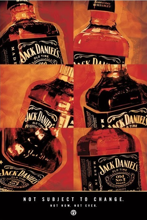 Poster Jack Daniel's - not subject to change