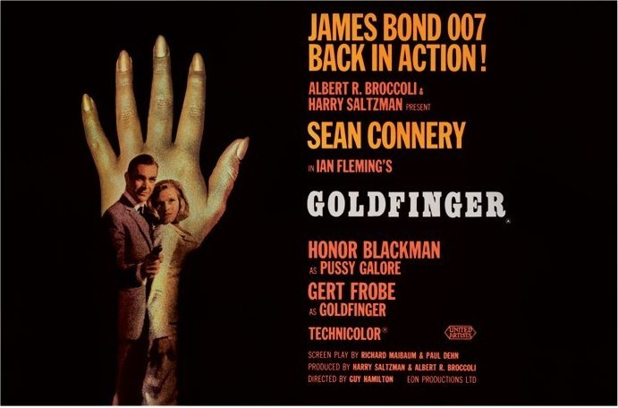 Poster JAMES BOND 007 - goldfinger hand