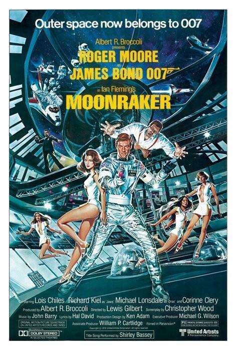 Poster JAMES BOND 007 - moonraker