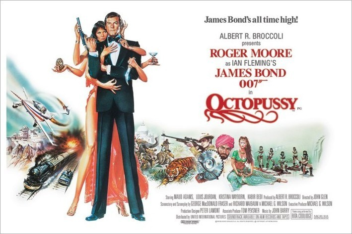 Poster JAMES BOND 007 - octopussy