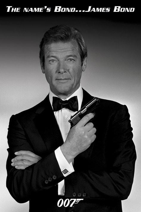 bestel de james bond 007 roger moore poster op. Black Bedroom Furniture Sets. Home Design Ideas