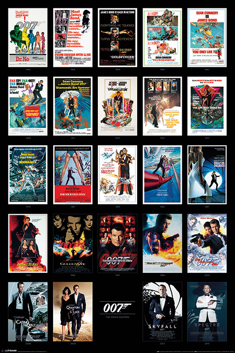 Póster  James Bond - Movie Posters