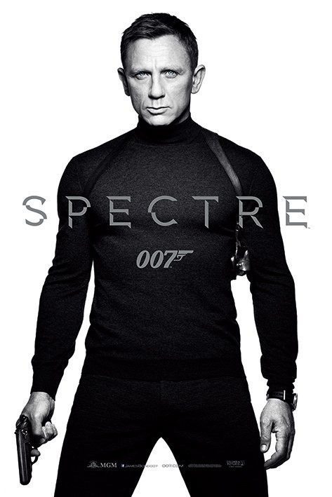 James Bond: Spectre - Black and White Teaser Poster
