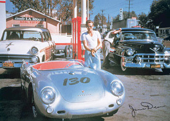 Póster  JAMES DEAN - Porshe