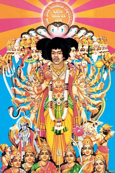 Póster Jimi Hendrix - axis bold as love