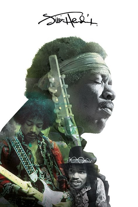 Poster Jimi Hendrix - Double Exposure