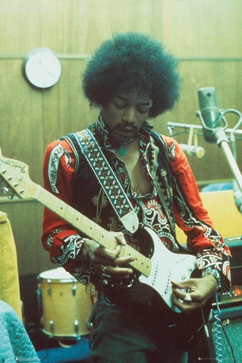 Póster  Jimi Hendrix - Studio