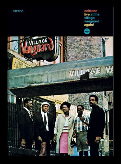 John Coltrane - village vanguard ingelijste poster met glas