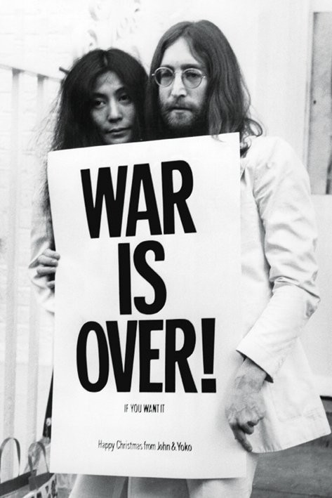 Póster John Lennon - war is over