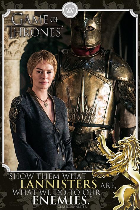 Póster  Juego de Tronos - Cersei Tyrion