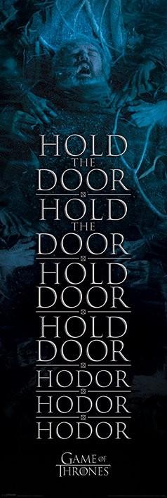 Póster Juego de Tronos - Hold the door Hodor