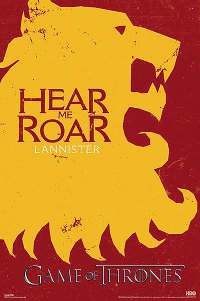 Póster Juego de Tronos - Lannister