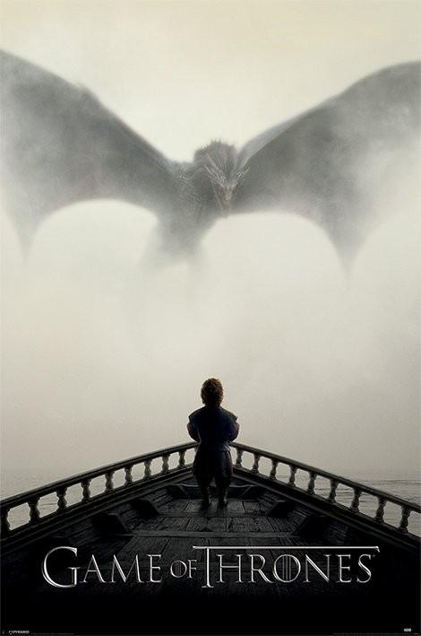 Póster Juego de Tronos - Lion and Dragon