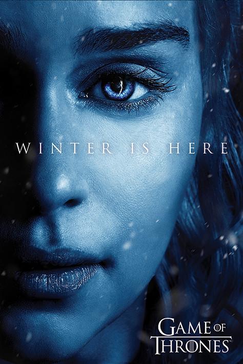 Juego De Tronos Winter Is Here Daenerys Póster Lámina