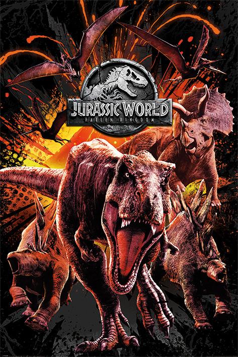 Póster Jurassic World Fallen Kingdom - Montage