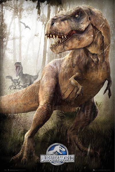 Póster Jurassic World - T-Rex