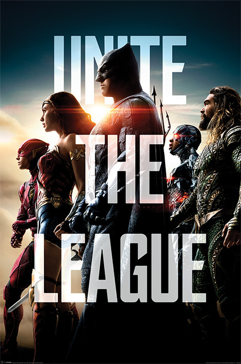 Póster Justice League - Unite The League