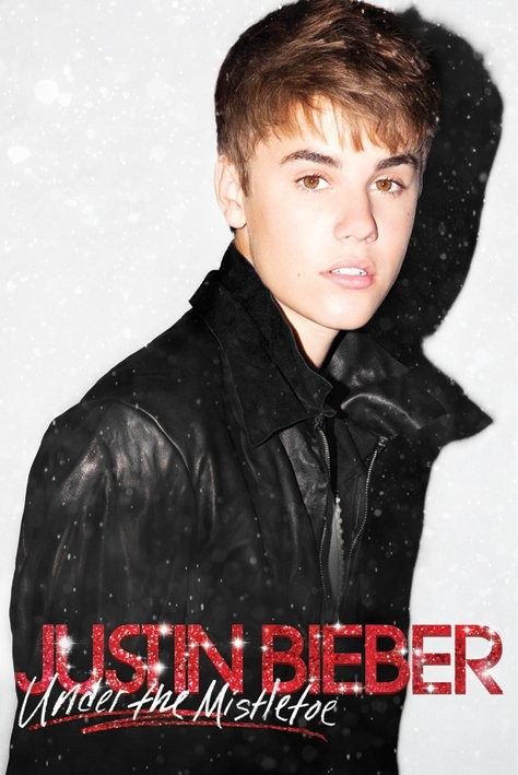 Poster JUSTIN BIEBER - under the mistletoe