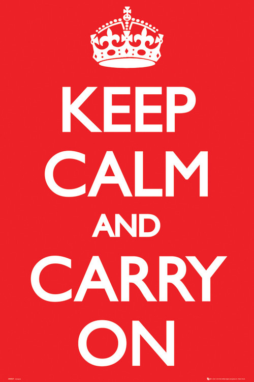 Póster Keep Calm And Carry On