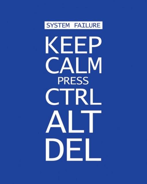 Póster Keep calm press ctrl alt delete