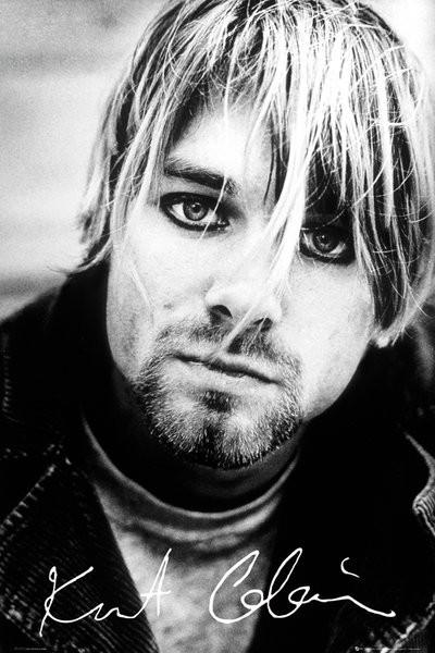 Póster Kurt Cobain - signature