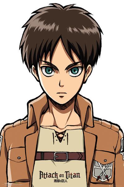 Poster L'attacco dei Giganti (Shingeki no kyojin) - Eren